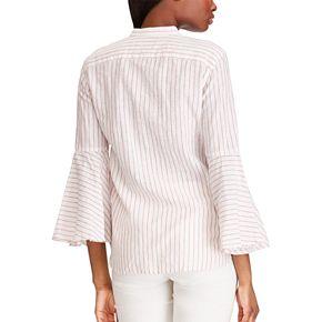 Women's Chaps Bell Sleeve Linen-Blend Shirt