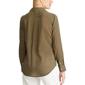 Women's Chaps Linen-Blend Shirt
