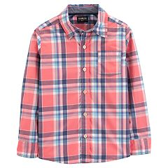 Boys 4-14 OshKosh B'gosh® Poplin Plaid Button Down Shirt