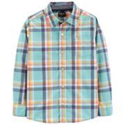 Boys 4-14 OshKosh B'gosh® Poplin Plaid Button Down Shirt