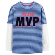 "Boys 4-14 OshKosh B'gosh® ""The Real MVP"" Striped Mock Layer Tee"