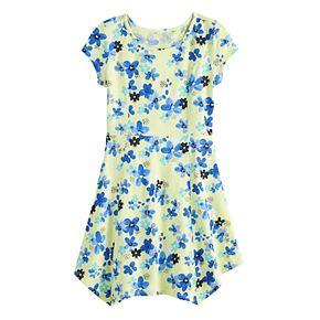 Girls 7-16 & Plus Size SO® Sharkbite Hem Printed Shirtdress