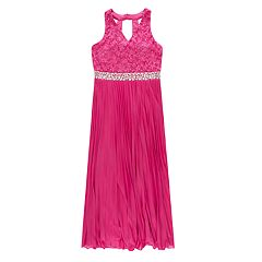 Girls 7-16 & Plus Size Speechless Sleeveless Lace Pleated Maxi Dress