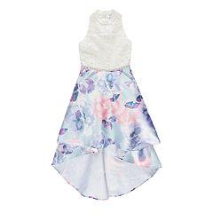Girls 7-16 & Plus Size Speechless Mandarin Collar High-Low Dress