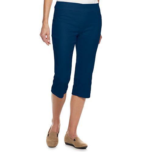 Petite Croft & Barrow® Effortless Stretch Pull-On Capri Pants