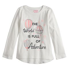 Girls 4-12 Jumping Beans® Long-Sleeve Glittery Graphic Tee