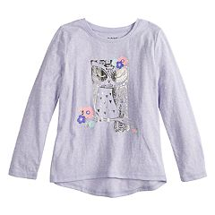 Girls 4-12 Jumping Beans® Long-Sleeve Graphic Nep Tee