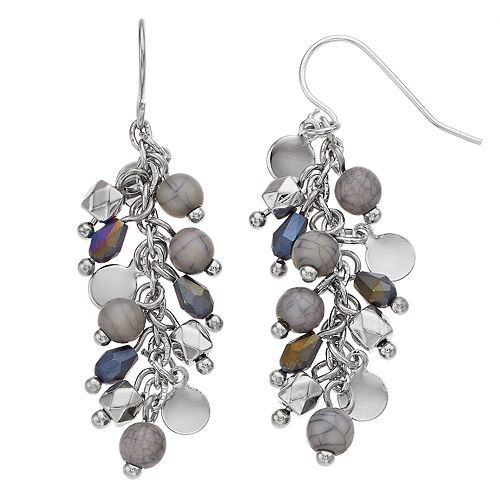 SONOMA Goods for Life™ Dangling Mixed Bead Drop Earrings