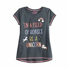 'Girls 4-12 Jumping Beans® Short-Sleeve Glittery Graphic Tee