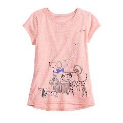 'Girls 4-12 Jumping Beans® Short-Sleeve Graphic Nep Tee