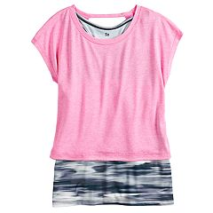 Girls 7-16 SO® Strappy Layer Tee