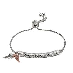 Brilliance Wing 'Watch Over Me' Adjustable Braclet with Swarovski Crystals