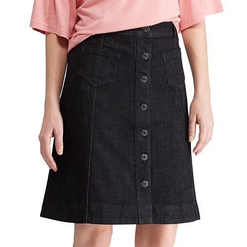 Women's Chaps Button-Front Skirt