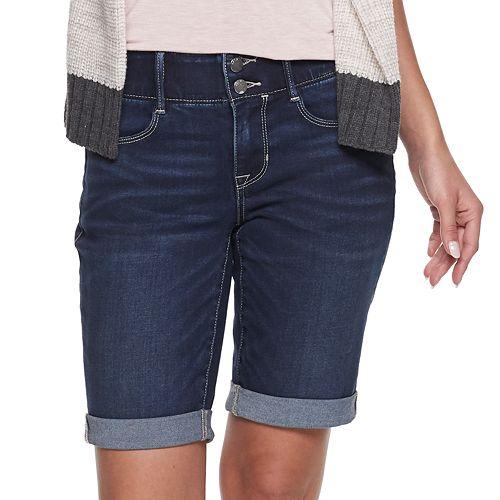 facc97d32f Women's Apt. 9® Tummy Control Denim Bermuda Shorts
