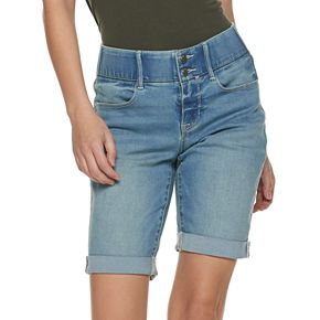 Women's Apt. 9® Tummy Control Denim Bermuda Shorts