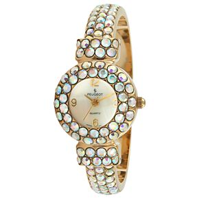 Peugeot Women's Crystal Cuff Dress Watch - 326AB