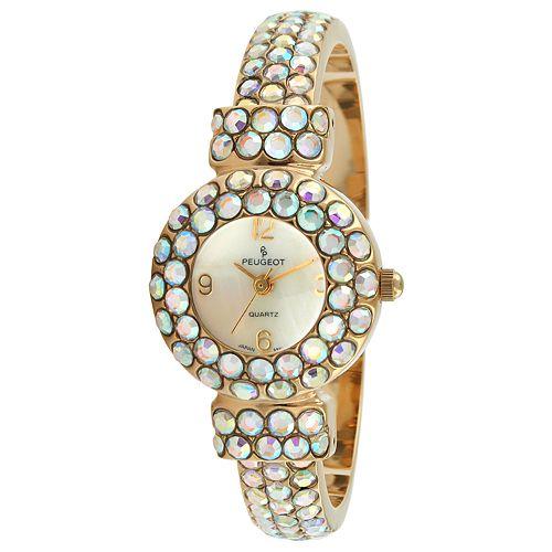 Peugeot Women's Crystal Cuff Dress Watch - 326AB