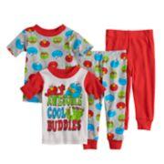 Baby Boy Sesame Street Elmo, Cookie Monster & Oscar the Grouch Tops & Bottoms Pajama Set