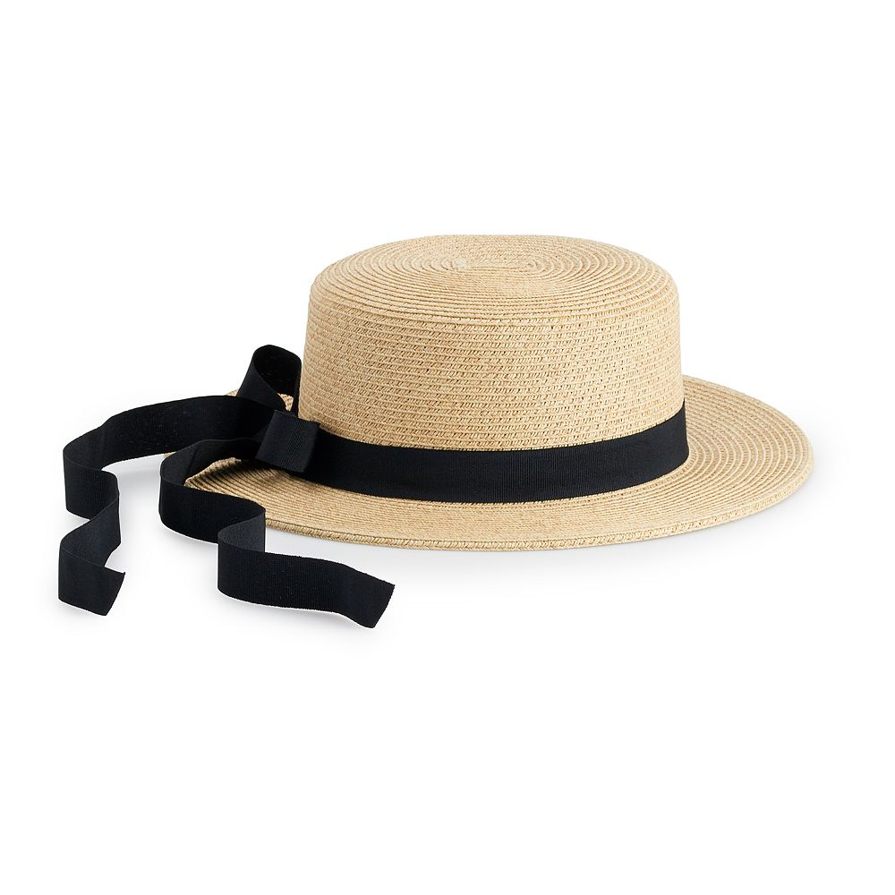 Women's LC Lauren Conrad Grosgrain Packable Boater Hat