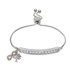 Brilliance Infinity Bar Adjustable Bracelet with Swarovski Crystals