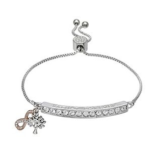 Brilliance Infinity Bar Adjustable Bracelet with Swarovski Crystals
