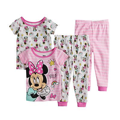 Disney's Minnie Mouse Baby Girl Tops & Bottoms Pajama Set