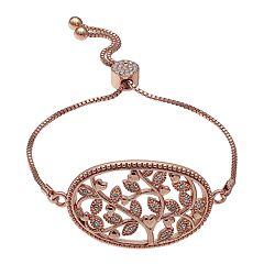 Brilliance Filigree Family Tree Adjustable Bracelet