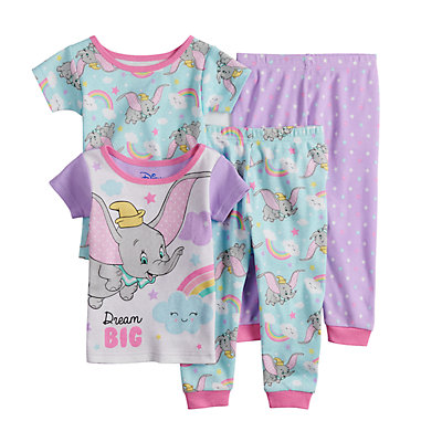 Disney's Dumbo Baby Girl Tops & Bottoms Pajama Set