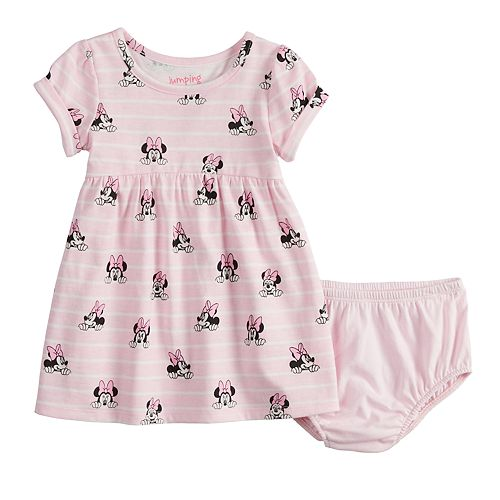 9664cb91 Disney's Minnie Mouse Baby Girl Print Babydoll Dress by Jumping ...