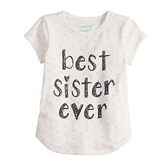 Toddler Girl Jumping Beans® 'Best Sister Ever' Polka-Dot tee