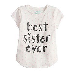 Toddler Girl Jumping Beans® 'Best Sister Ever' Polka-Dot tee