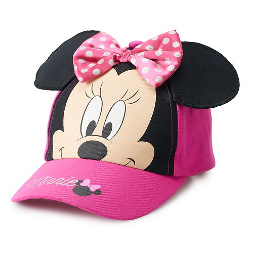 7c5d8cd1 Disney's Minnie Mouse Toddler Girl 3D Ears Baseball Cap