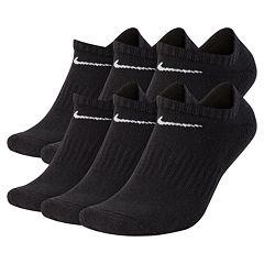 1c14f77fe5390 Men's Nike 6-pack Everyday Plus Cushion No-Show Training Socks. Black White  Dark Gray