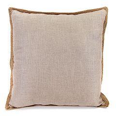 Jordan Manufacturing Faux Linen Throw Pillow