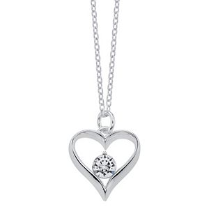 "Brilliance ""Grandma"" Heart Pendant Necklace with Swarovski Crystals"