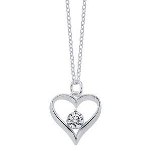 "Brilliance ""Grandma"" Heart Pendant Necklace with Swarovski Crystals"