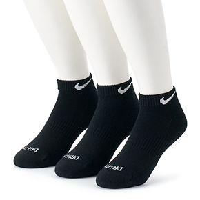 Men's Nike 3-pack Everyday Plus Cushion Low-Cut Training Socks