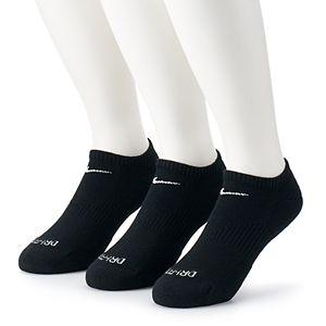 Men's Nike 3-pack Everyday Plus Cushion No-Show Training Socks