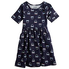 Disney's Minnie Mouse Girls 4-12 Glittery Rainbow Print Dress by Jumping Beans®