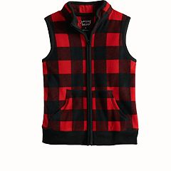 Boys 4-12 Jumping Beans® Checked Microfleece Vest