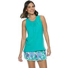 a3b923ef434fd Women's Croft & Barrow® Tank & Printed Shorts Pajama Set