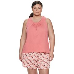 Plus Size Croft & Barrow® Tank & Printed Shorts Pajama Set