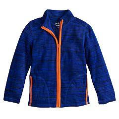 Boys 4-12 Jumping Beans® Space Dyed Microfleece Zip Lightweight Jacket