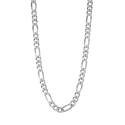 Men's Sterling Silver Figaro Chain Necklace