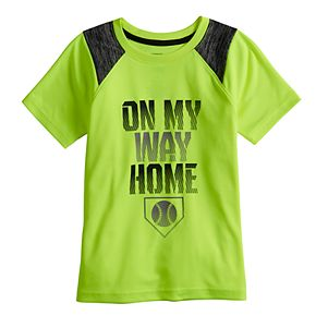 "Boys 4-12 Jumping Beans® ""On My Way Home"" Baseball Active Tee"