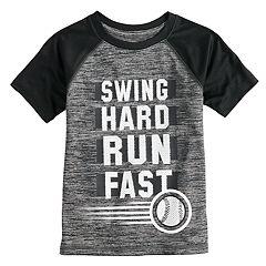 Boys 4-12 Jumping Beans® 'Swing Hard Run Fast' Baseball Raglan Tee