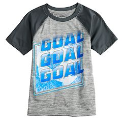 Boys 4-12 Jumping Beans® 'Goal Goal Goal' Soccer Active Raglan Tee