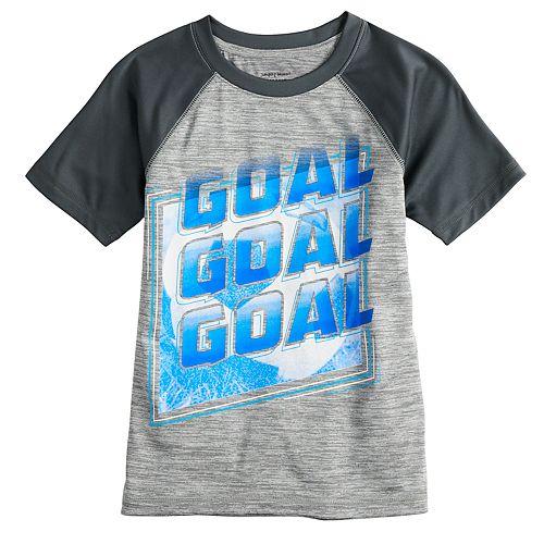 "Boys 4-12 Jumping Beans® ""Goal Goal Goal"" Soccer Active Raglan Tee"