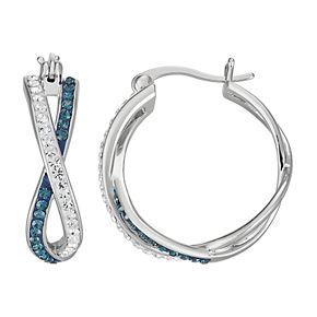 Chrystina Crystal Twisted Hoop Earrings