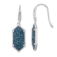 Chrystina Fine Silver Plated Pave Crystal Earrings